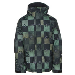 Quiksilver Mission Printed Mens Insulated Snowboard Jacket, Chakalapaki Army, 256