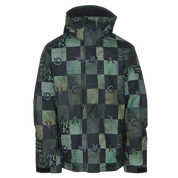Quiksilver Mission Printed Mens Insulated Snowboard Jacket, Chakalapaki Army, 600
