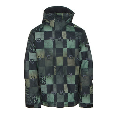 Quiksilver Mission Printed Mens Insulated Snowboard Jacket, S Stripe Jolly Green, viewer