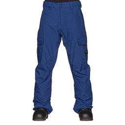 Quiksilver Porter Insulated Mens Snowboard Pants, Sodalite Blue, 256