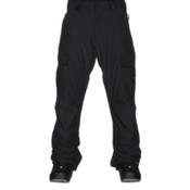 Quiksilver Porter Insulated Mens Snowboard Pants, Black, medium