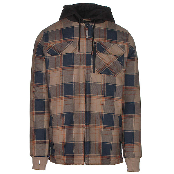 Quiksilver Connector Riding Mens Flannel Shirt, Flannel Elmwood, 600