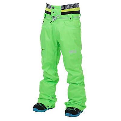 Picture Under Fluo Mens Snowboard Pants, Neon Green, viewer
