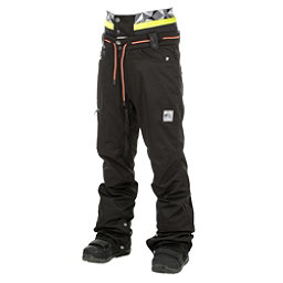 Picture Under Mens Snowboard Pants, Black Jeans-Black Leather, 256