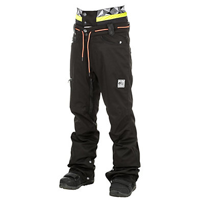 Picture Under Mens Snowboard Pants, Black Jeans-Black Leather, viewer