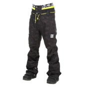 Picture Under Mens Snowboard Pants, Camo Print-Black Leather, medium