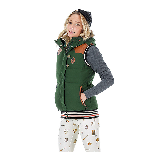 Picture Holly 3 Womens Vest, Dark Green-Brown, 600