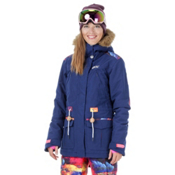 Picture Apply 2 Womens Insulated Snowboard Jacket, Dark Blue-Psycho Patch, medium