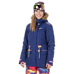 Picture Apply 2 Womens Insulated Snowboard Jacket, Dark Blue-Psycho Patch, 256