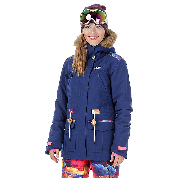Picture Apply 2 Womens Insulated Snowboard Jacket, Dark Blue-Psycho Patch, 600