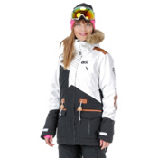Picture Apply 2 Womens Insulated Snowboard Jacket, White-Black-Brown Leather, medium