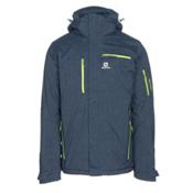 Salomon Brilliant+ Mens Insulated Ski Jacket, Big Blue X, medium