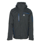 Salomon Brilliant+ Mens Insulated Ski Jacket, Black, medium