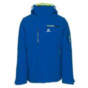 Salomon Brilliant Mens Insulated Ski Jacket, Blue Yonder, medium