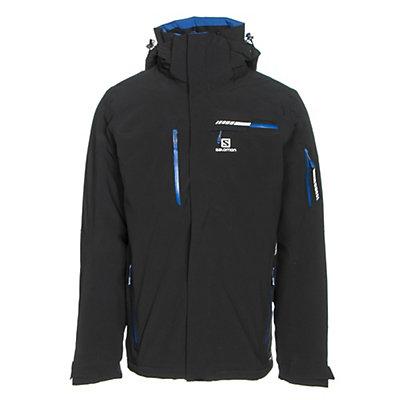 Salomon Brilliant Mens Insulated Ski Jacket, Black, viewer