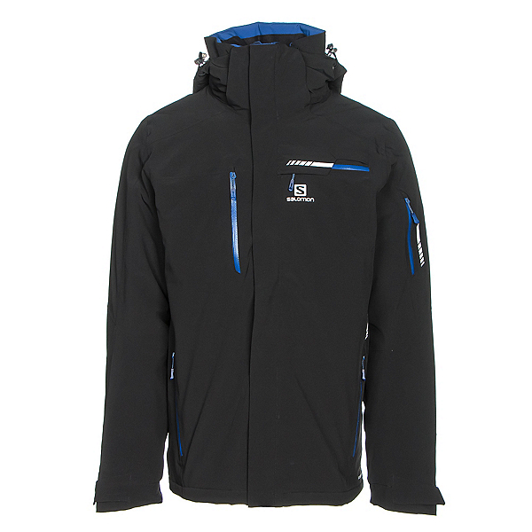 Salomon Brilliant Mens Insulated Ski Jacket, Black, 600