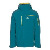 Salomon Brilliant Mens Insulated Ski Jacket, Blue Steel, medium