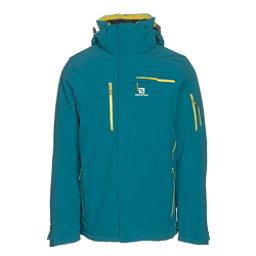 Salomon Brilliant Mens Insulated Ski Jacket, Blue Steel, 256