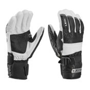 Leki Mountain Trail S Gloves, Black-White, medium