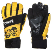 Leki Woody Gloves, Black-Yellow, medium
