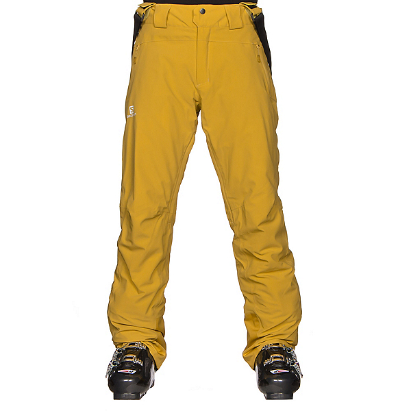 Salomon Iceglory Mens Ski Pants, Alpha Yellow, 600