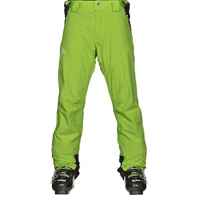 Salomon Iceglory Mens Ski Pants, Alpha Yellow, viewer
