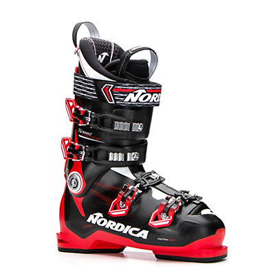 Nordica Speedmachine 110 Ski Boots 2017, Black-Red-White, viewer