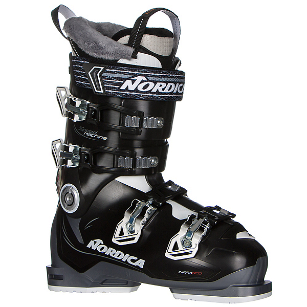 Nordica Speedmachine 85W Womens Ski Boots 2017, Black-White-Anthracite, 600