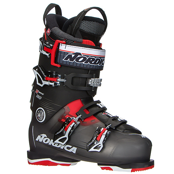 Nordica N-Move 120 Ski Boots 2017, Black Transparent-Red, 600