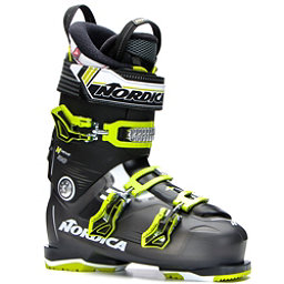 Nordica N-Move 100 Ski Boots 2017, Black Transparent-Lime, 256