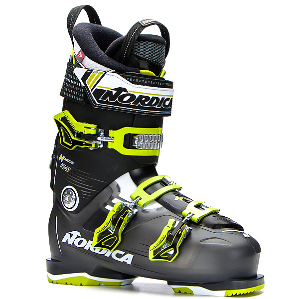 Nordica N-Move 100 Ski Boots 2017, Black Transparent-Lime, 600