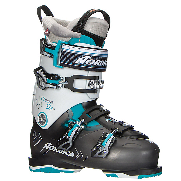 Nordica N-Move 95 W Womens Ski Boots 2017, Black Transparent-White, 600