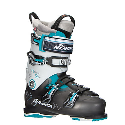 Nordica N-Move 95 W Womens Ski Boots 2017, Black Transparent-White, viewer