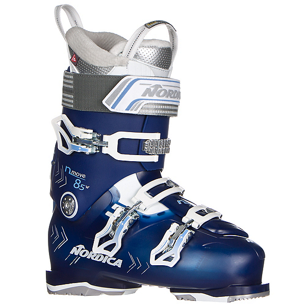 Nordica N-Move 85 W Womens Ski Boots, Blue Transparent-White, 600