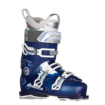 Nordica N-Move 85 W Womens Ski Boots 2017, Blue Transparent-White, viewer