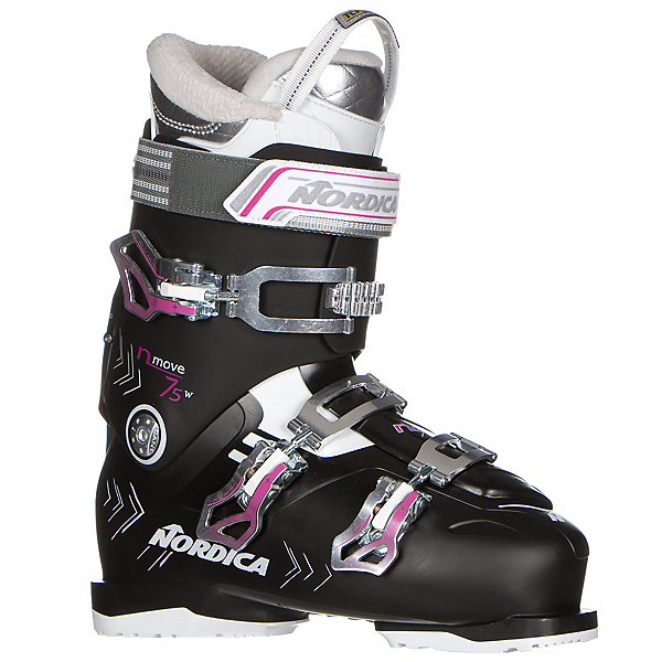 Nordica N-Move 75 W Womens Ski Boots 2017, Black-Fuscia, 600