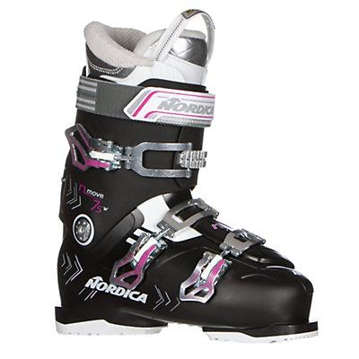Nordica N-Move 75 W Womens Ski Boots 2017, Black-Fuscia, viewer