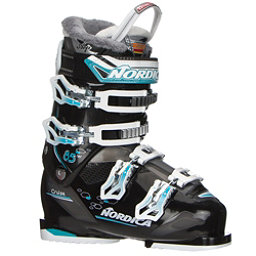 Nordica Cruise 85 W Womens Ski Boots 2018, Black-Light Blue, 256