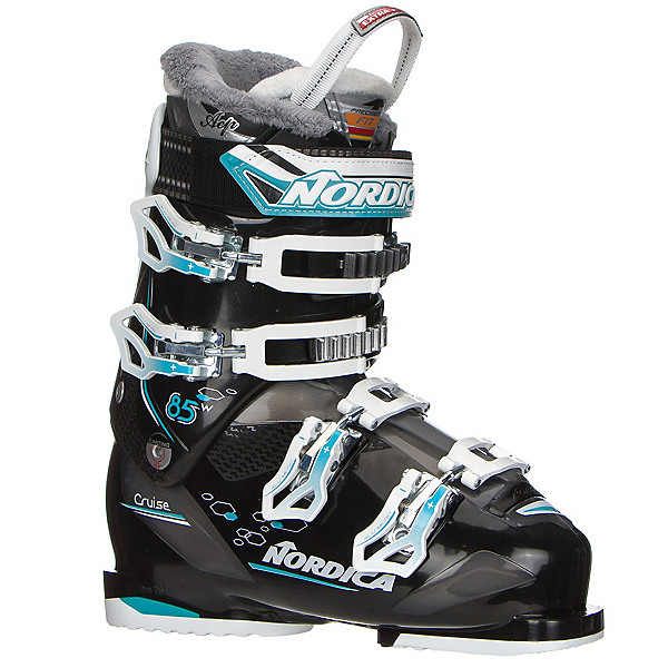 Nordica Cruise 85 W Womens Ski Boots 2018, Black-Light Blue, 600