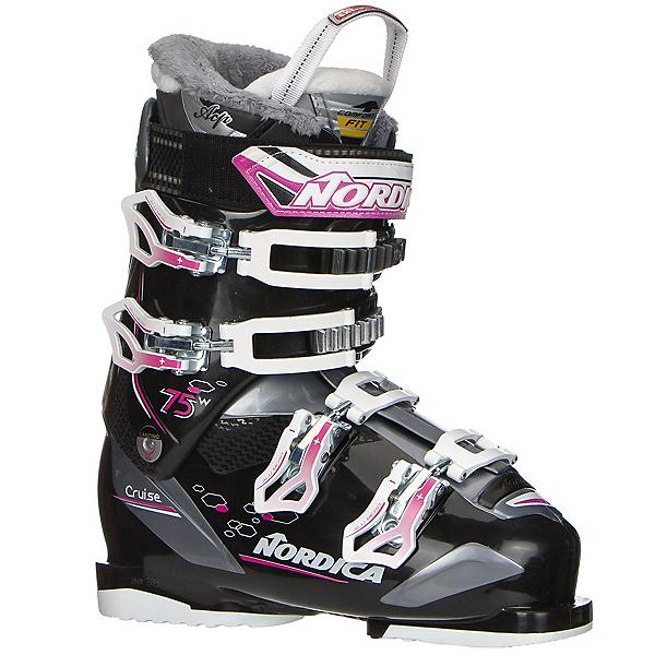 Nordica Cruise 75W Womens Ski Boots 2017, Black-Fuscia, 600
