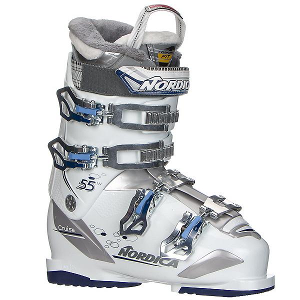 Nordica Cruise 55W Womens Ski Boots 2017, White-Blue, 600