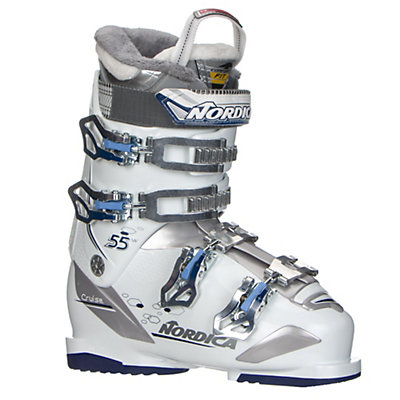 Nordica Cruise 55W Womens Ski Boots 2017, White-Blue, viewer