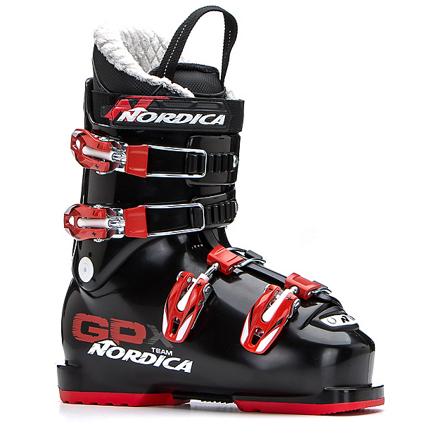 Nordica GPX Team Kids Ski Boots 2018, Black-Red, 600