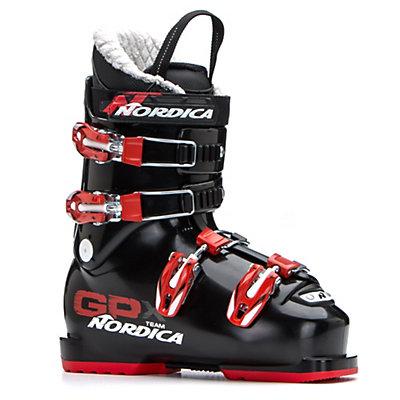Nordica GPX Team Kids Ski Boots 2017, Black-Red, viewer