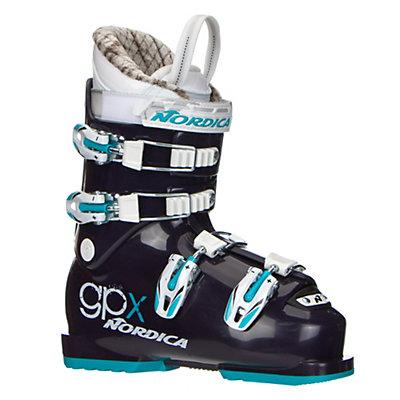 Nordica GPX Team Girls Ski Boots 2017, Dark Purple-Light Blue, viewer