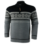 Obermeyer Bryce 1/4 Zip Mens Sweater, Light Heather Grey, medium