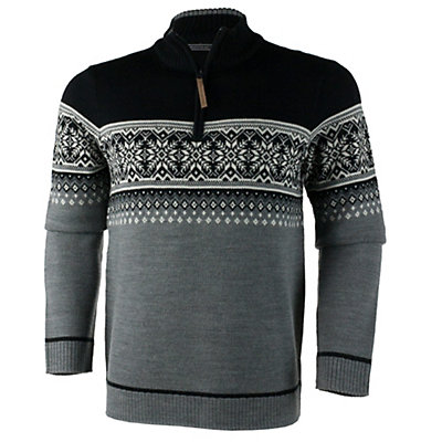 Obermeyer Bryce 1/4 Zip Mens Sweater, Light Heather Grey, viewer