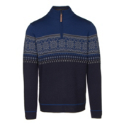 Obermeyer Bryce 1/4 Zip Mens Sweater, Storm Cloud, medium