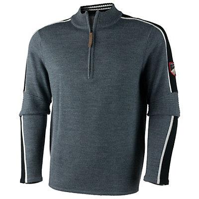 Obermeyer Vista 1/2 Zip Mens Sweater, Light Heather Grey, viewer