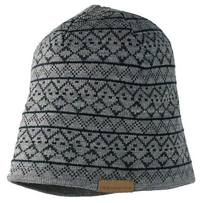 Obermeyer Mountain Knit Hat, Light Heather Grey, viewer
